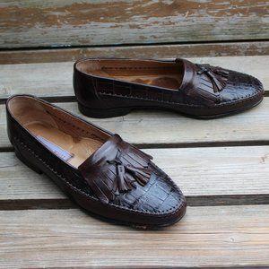 Bruno Magli Genuine Crocodile Loafer Package Deal